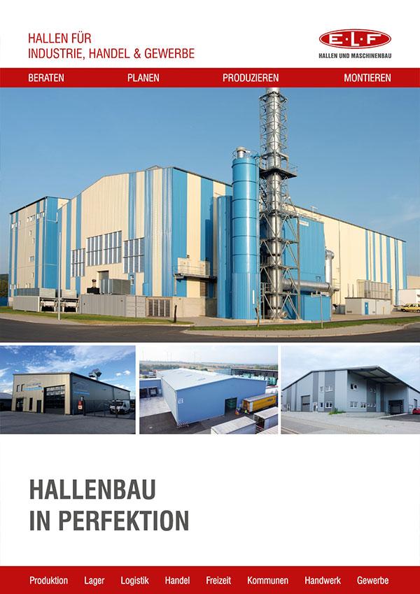 Broschüre Hallen für Industrie, Handel und Gewerbe