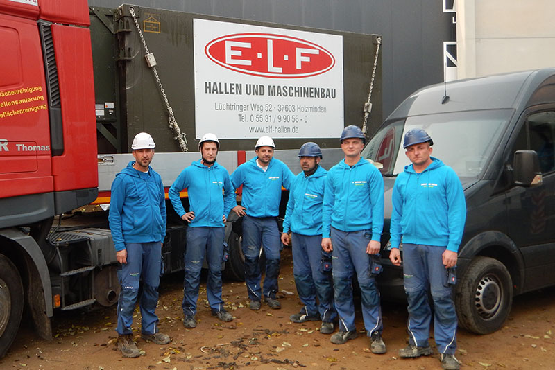 Monteure E.L.F Hallenbau